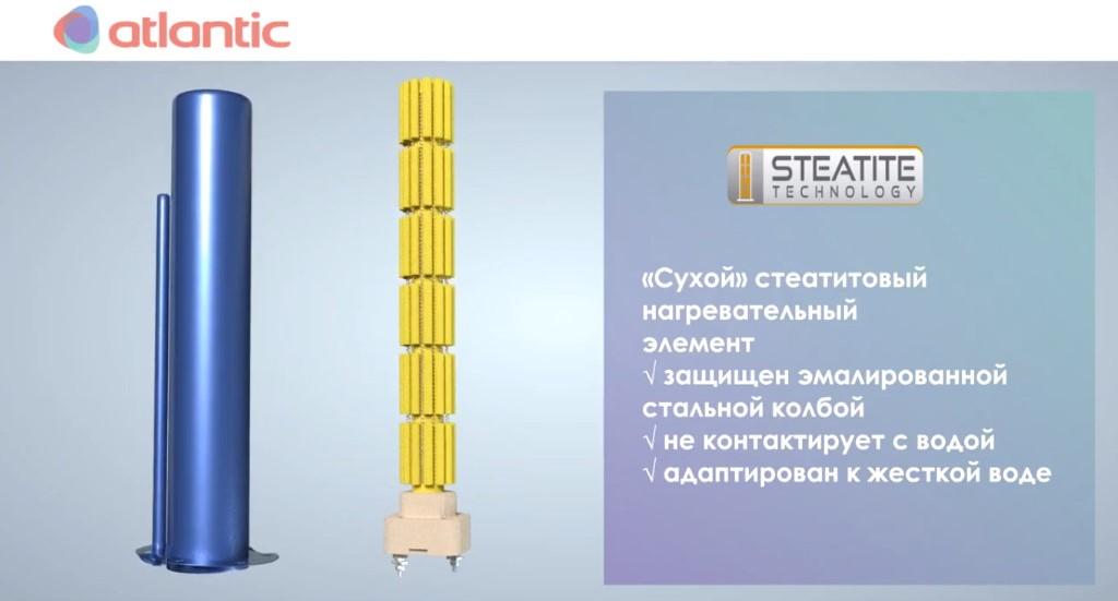 Atlantic Steatite Cube Slim - сухой тэн